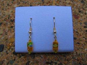 Orange & Yellow Flower Earrings