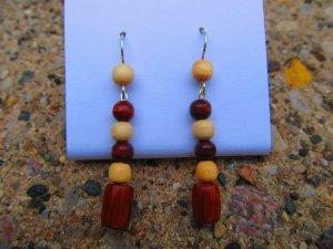 Wooden Beaded Earrings