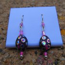 Pink Peacock Earrings
