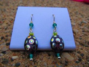 Blue & Green Peacock Earrings