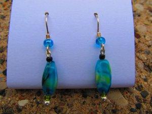 Blue & Green Swirl Earrings