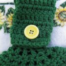 "Green Sunflower ""Welcome"" Hanging Towel"