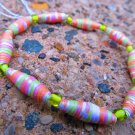 Green & Orange Paper Bead Bracelet