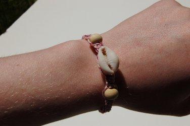 Cowrie Shell Pink Macrame Bracelet 155-156