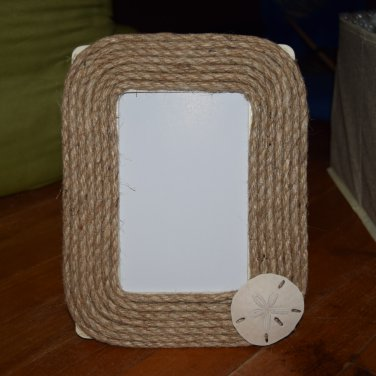 Sand Dollar Rope Beach Picture Frame