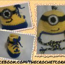 """Despicable Me""Inspired Character Hat & High-Top Booties"