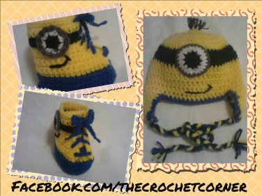 """""""Despicable Me""""Inspired Character Hat & High-Top Booties"""
