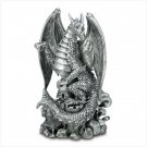 Black Fierce Dragon Figurine