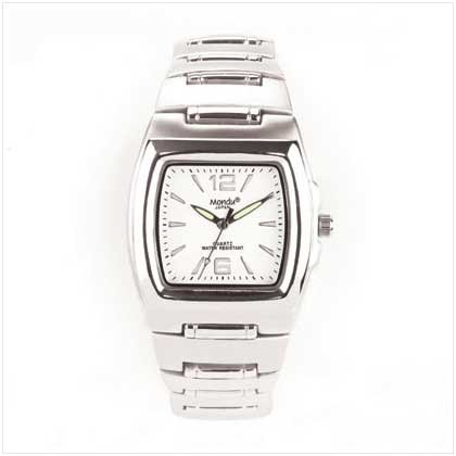 Men's Square Dial Silver Watch