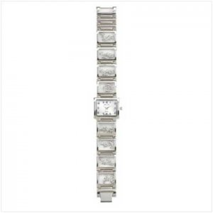 Dolphin Charm Silver Link Watch
