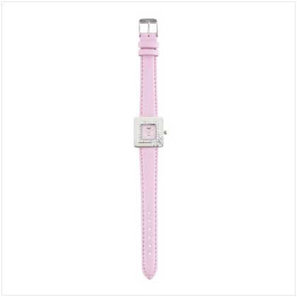Silver Case Pink Band Watch