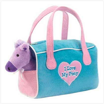 Pony Stuffed Toys With Carrier