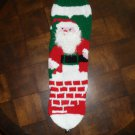 Handcrafted/Hand Made Heritage Knit Christmas Stocking - Santa in Chimney (heel in back) (Item#13)