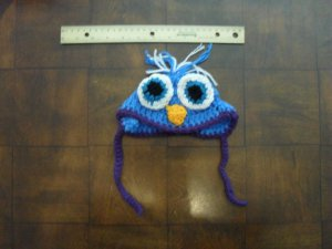 Lime Green and Teal Blue Owl Hat by Doggie Duds