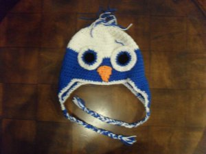 Crocheted Owl Ear-Flap Cap