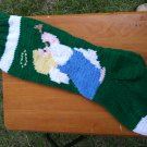 Handcrafted/Hand Made Heritage Knit Christmas Stocking - Angel (Item #57)