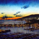 "Honolulu Art ""Lights of the Pacific"" 24"" x 48"" by Maui Artist  Matt Holton"