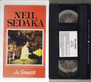 Rare!! NEIL SEDAKA IN CONCERT Rare OOP VHS video
