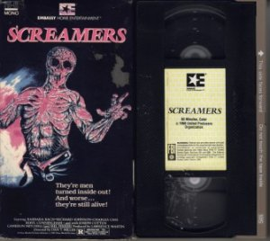 SCREAMERS 1979 aka:  Island of The Fishmen FERRER VHS
