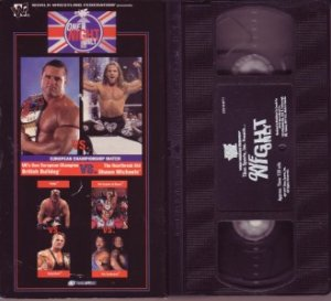 WWF ONE NIGHT ONLY Wrestling BRITISH BULL DOG VHS