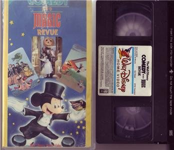 Walt Disney Comedy And Magic Revue Mickey Mouse Vhs