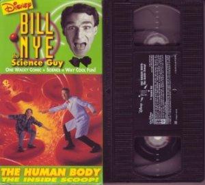 BILL NYE The SCIENCE GUY The HUMAN BODY Rare DISNEY vhs