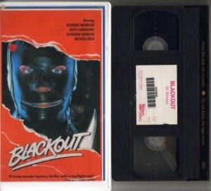 BLACKOUT Black Out RICHARD WIDMARK Quinlan VHS VIDEO