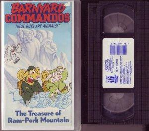 BARNYARD COMMANDOS The TREASURE OF RAM PARK MOUNTAIN vhs VIDEO