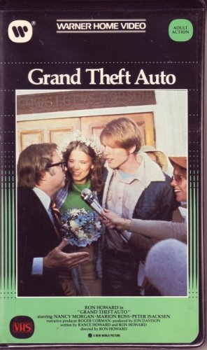 GRAND THEFT AUTO Orig. RON HOWARD 1984 Warner w/VINTAGE CLAMSHELL Car Movie VHS
