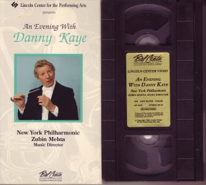 AN EVENING WITH DANNY KAYE and the New York Philharmonic 1981 LINCOLN CENTER Rare VHS