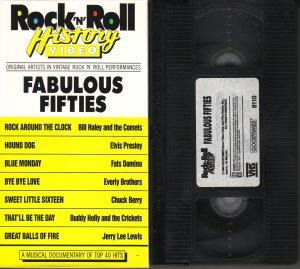 ROCK N ROLL HISTORY VIDEO Rock & Roll FABULOUS FIFTIES 50's Rare!! VHS
