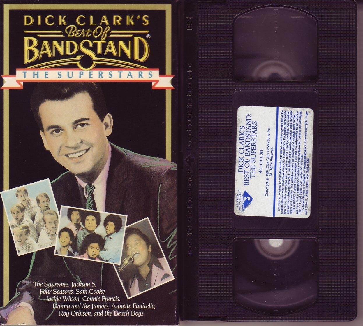 DICK CLARK'S BEST OF BANDSTAND The SUPERSTARS Jackson 5 SUPREMES Roy Orbison VHS