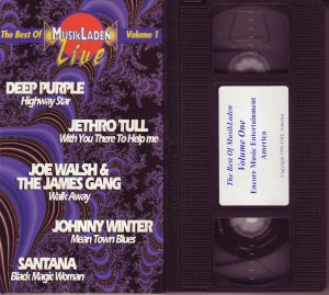 THE BEST OF MUSIKLADEN VOLUME 1 DEEP PURPLE Jethro Tull SANTANA Joe Walsh VHS