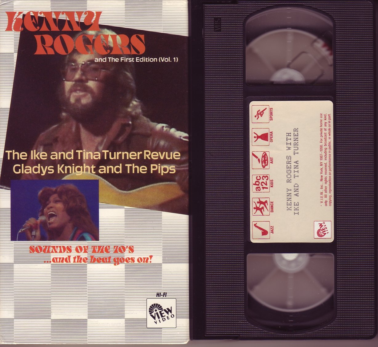 KENNY ROGERS THE FIRST EDITION V.1 TINA TURNER REVUE GLADYS KNIGHT and THE PIPS