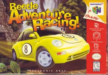 BEETLE ADVENTURE RACING! N64 NINTENDO 64 COMPLETE & MINT! BOX/GAME/INSTRUCTIONS