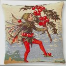 Tapestry Panel HOLLY FAIRY Cecily Mary Barker 14x14