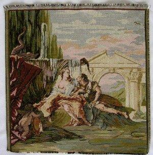 Italian Tapestry Fabric Panel ARAMIDA 14x14