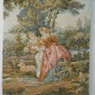 Tapestry Upholstery Fabric, Chair Panel, Pastoral, LOVE 26x21