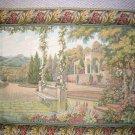 Wall Hanging Lake Como Garden 39x53 Italian Tapestry