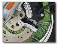Diamond Plate Motorcycle Disc Lock