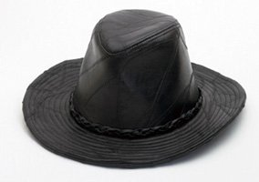 Casual Outfitters Rock Design Genuine Leather Cowboy Hat - Large
