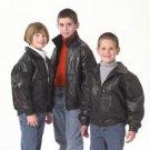 Giovanni Navarre Italian Stone Design Childrens Genuine Leather Jacket - Size 6-7