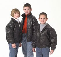 Giovanni Navarre Italian Stone Design Childrens Genuine Leather Jacket - Size 12