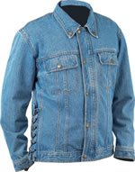 Diamond Plate Denim Motorcycle Jacket - Large