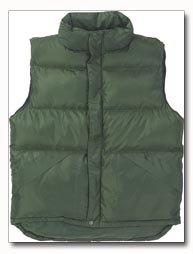 X60 Outerwear Unisex Polyester Green Vest - Medium