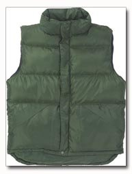 X60 Outerwear Unisex Polyester Green Vest - Large