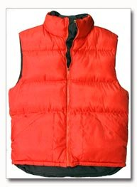 X60 Outerwear Unisex Polyester Red Vest - Large