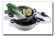 Stainless Steel Oversized Skillet, Steamer and Cover