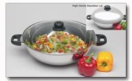 3pc Stainless Steel Wok Set