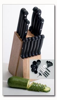 Maxam 44pc Kitchen Cutlery Set